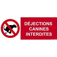 panneau déjections canines